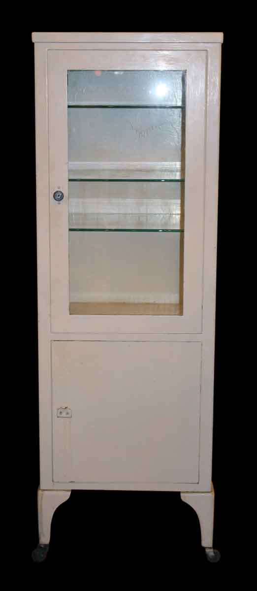 Vintage Petite White Medical Cabinet