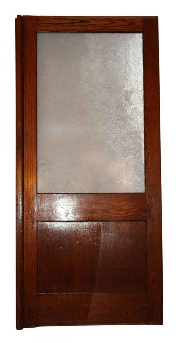 Oak with Pebbled Glass Room Dividers or Doors