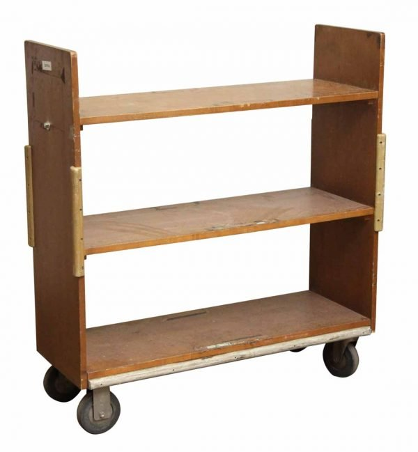 Library Book Cart in Dark Stain