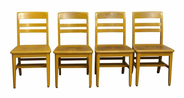 Set of Four School Chairs