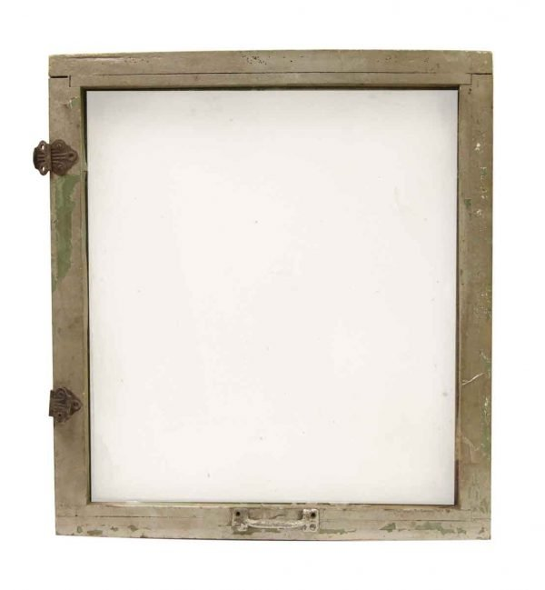 Painted Wood Frame Antique Window