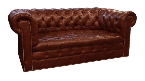 Brown Chesterfield Leather Sofa