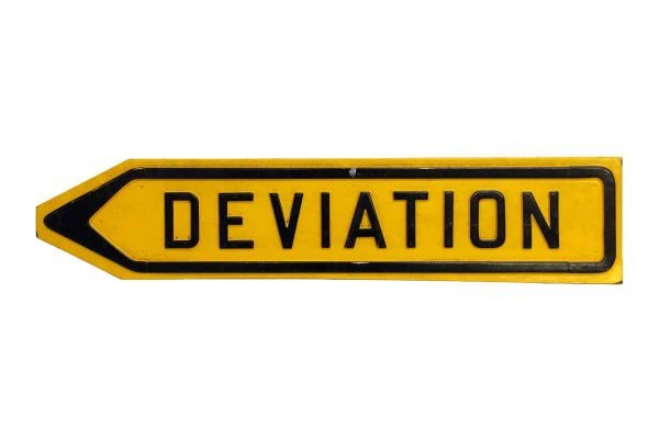 French Yellow Deviation Plastic Sign