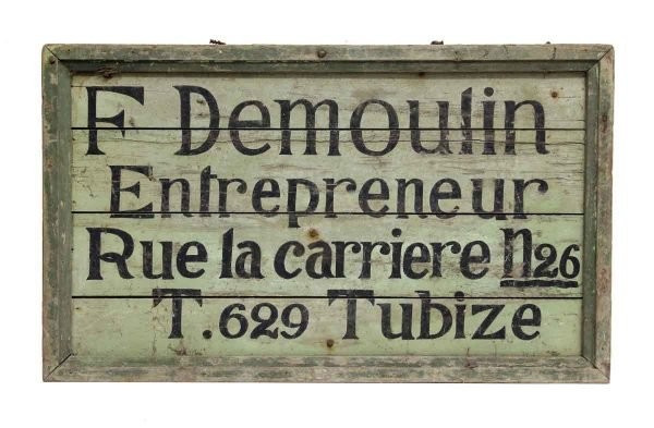 Wooden French Sign - Vintage Signs