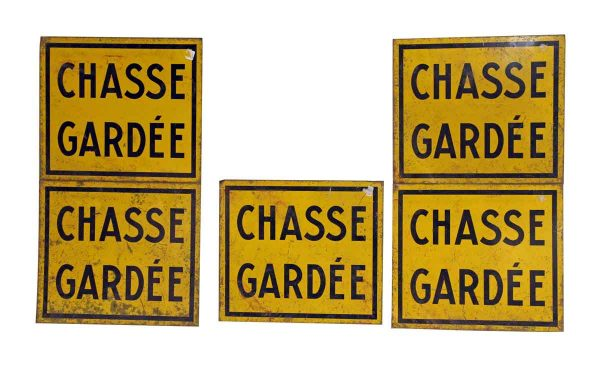 French Private Hunting Sign - Vintage Signs