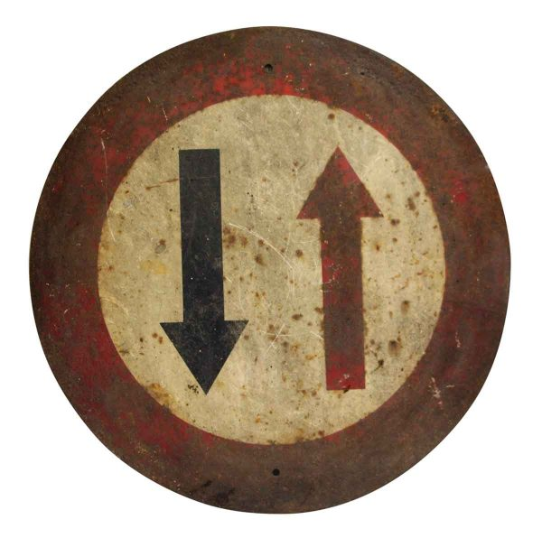 French Two Way Traffic Sign - Vintage Signs