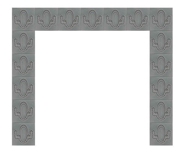 Gray Helman Tile Surround Set - Fireplace Surrounds