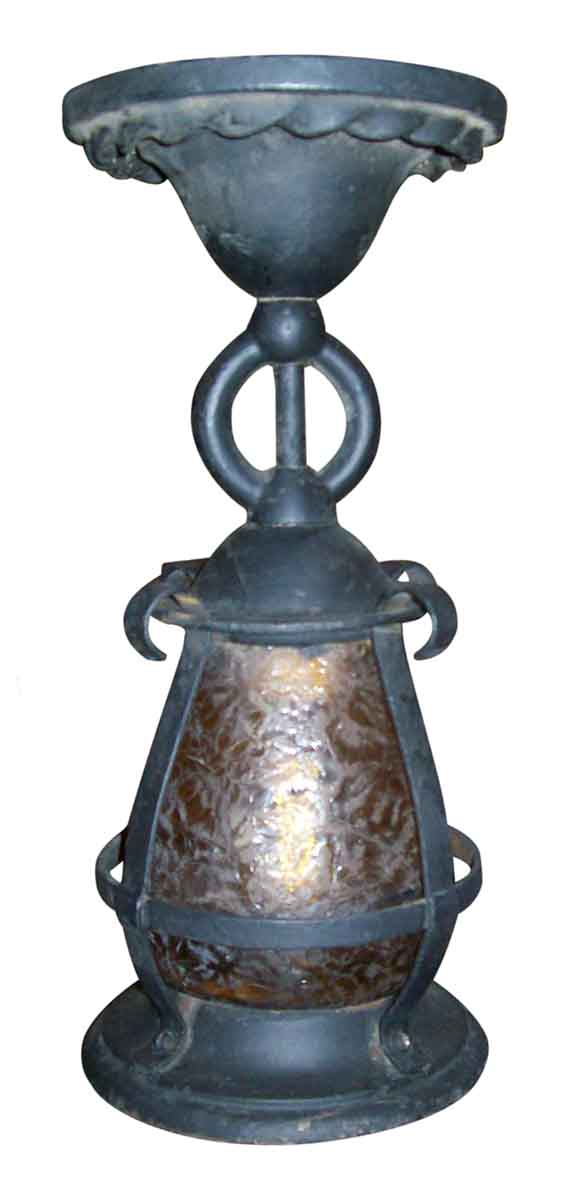 Porch Light with Glue Chip Globe - Wall & Ceiling Lanterns
