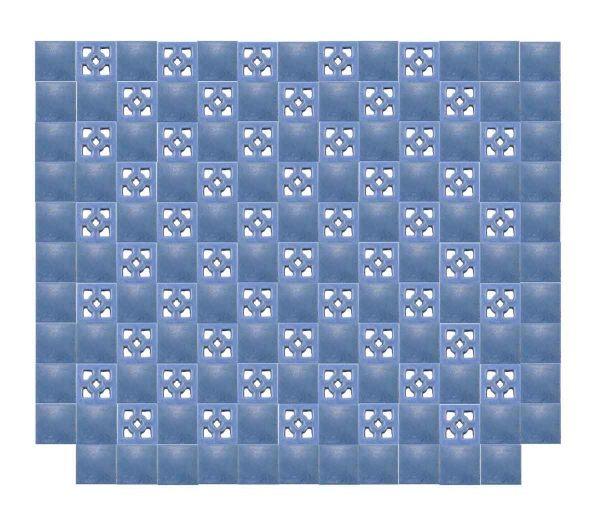 Rare American Arts & Crafts Blue Tile Wall - Wall Tiles
