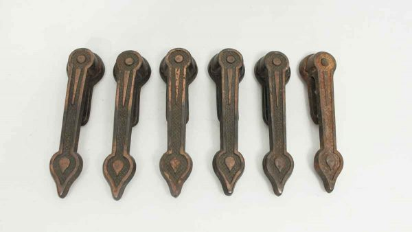 Set of Six Deco Iron Carpet Holders - Other Hardware