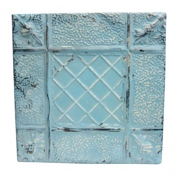 Sky Blue Textured Tin Panel - Tin Panels