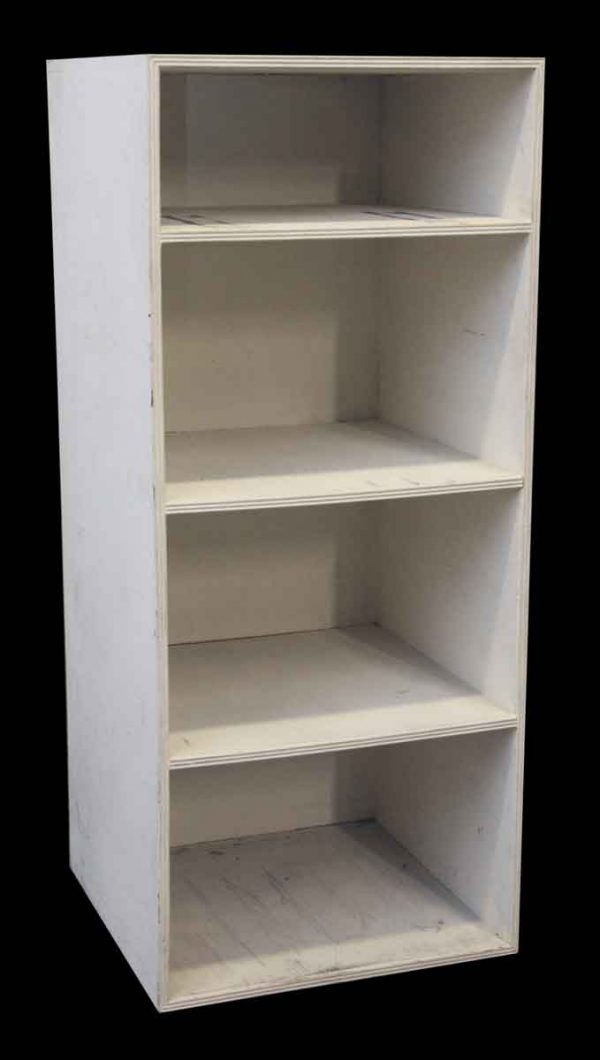 Plain White Wood Bookshelf