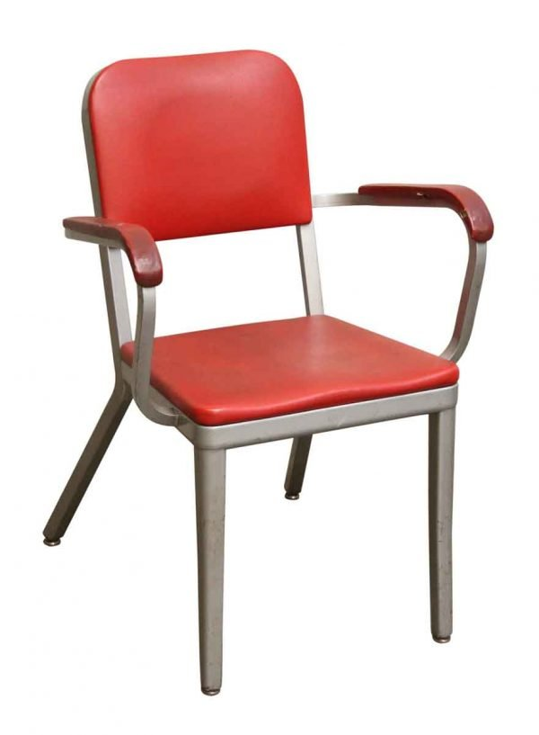 Red Vinyl & Aluminum Chair