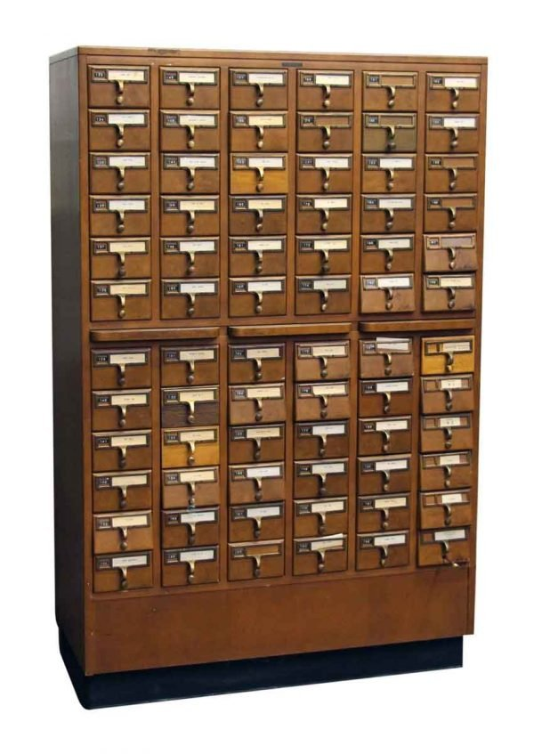 File Card Catalog Cabinet - Office Furniture