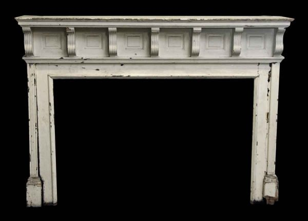 Wide Wooden Mantel with Corbel Details - Mantels
