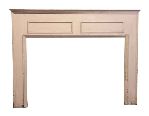 Wooden Pastel Mantel with Simple Geometric Pattern - Mantels