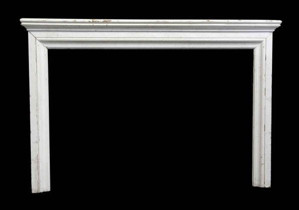 Simple White Painted Mantel with Graduated Shelf - Mantels