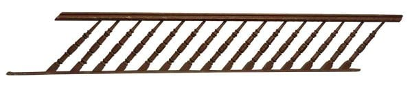 Wooden Stair Railing with Unusual Spindles - Staircase Elements