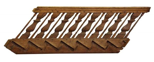 Rare English Carved Wood Stair Railing - Staircase Elements