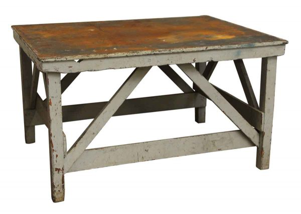 Old Factory Work Table - Industrial