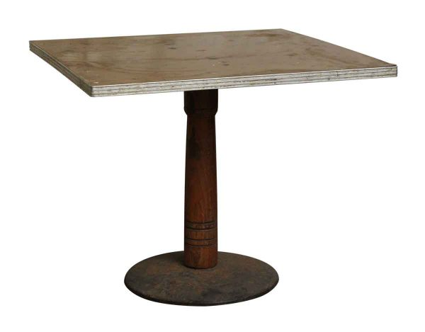 Formica Top Restaurant Table with Wooden Pedestal - Commercial Furniture
