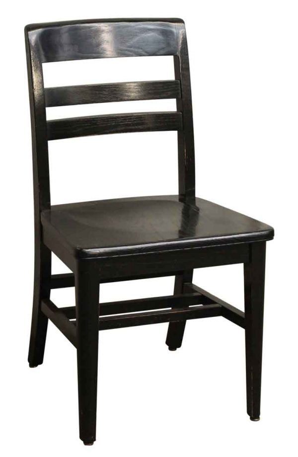 Black Wood Chair with Square Seat - Seating