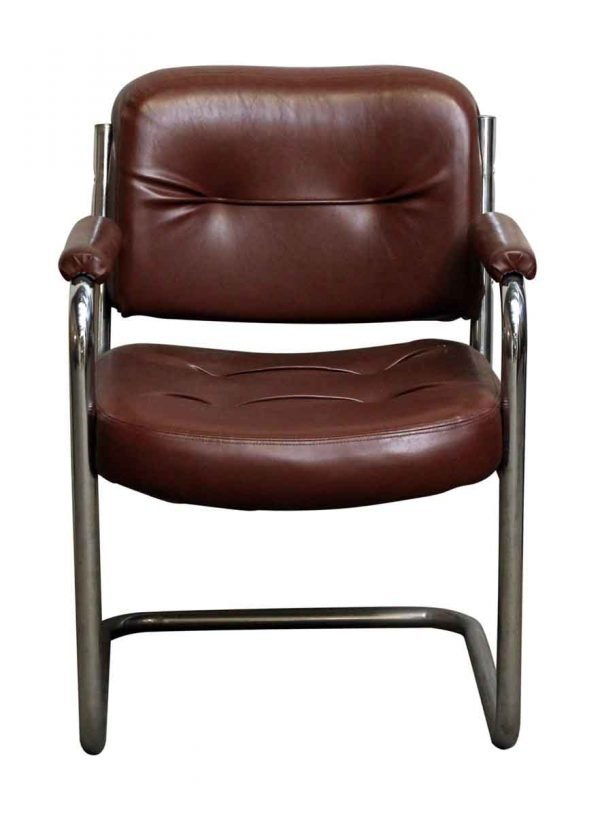 Brown Leather Office Chair - Seating