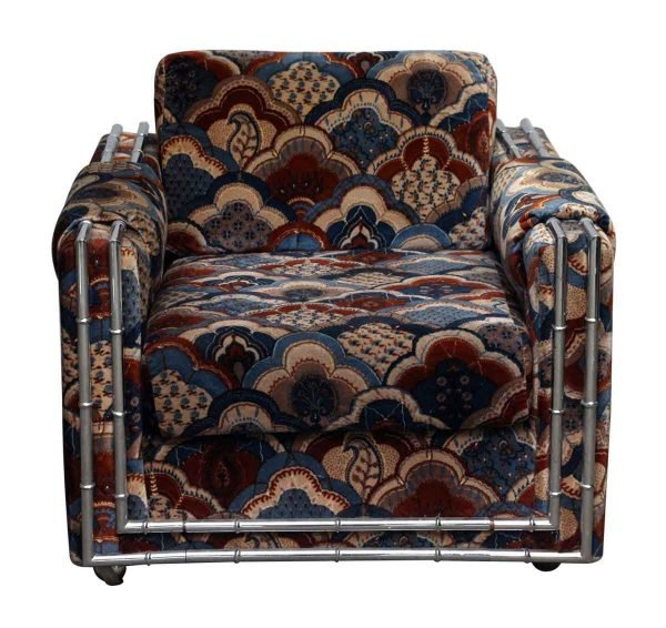 Heavily Patterned Vintage Colorful Chair - Living Room