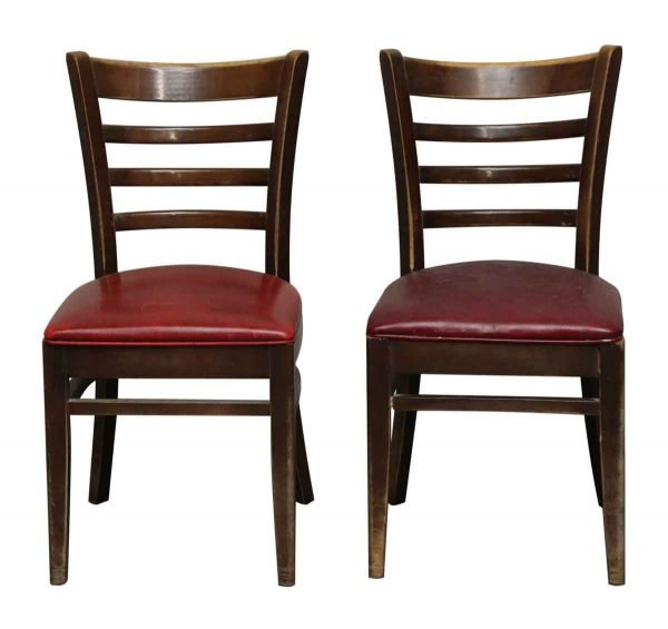 Pair of Chairs with Red Seats - Seating