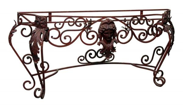 Red Wrought Iron Figural Console - Entry Way