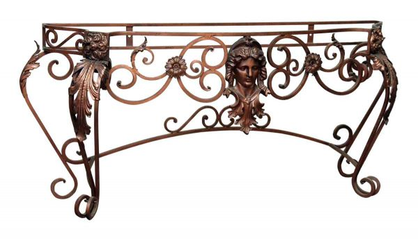 Bronze Washed Wrought Iron Console Table - Entry Way