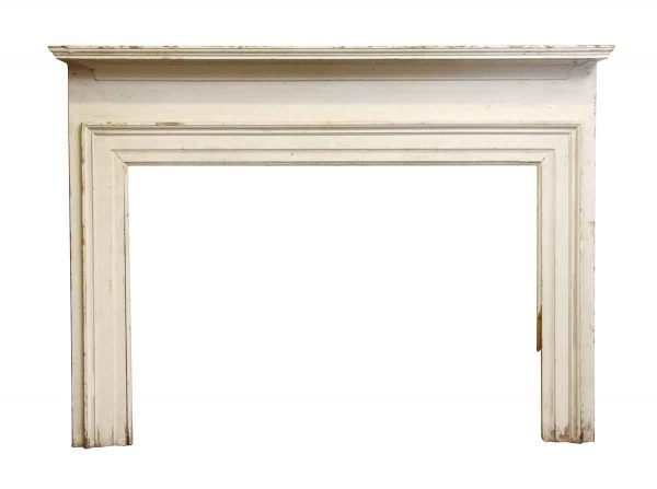 Very Simple White Painted Mantel - Mantels