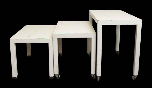 Set of Three White Wooden Tables - Commercial Furniture