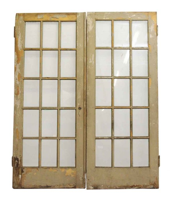French Pair of Doors with 15 Lites - French Doors