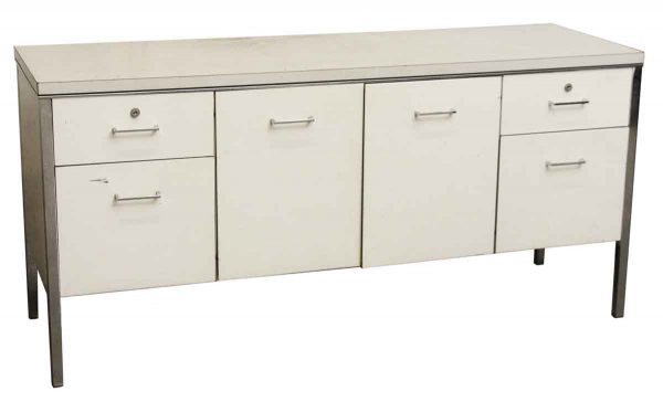Steel Off White Credenza - Office Furniture