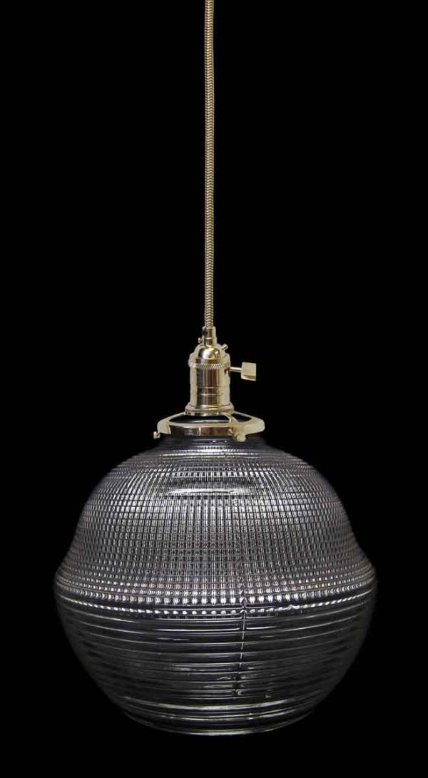 Rare Antique Holophane 4.25 in. Pendant Light