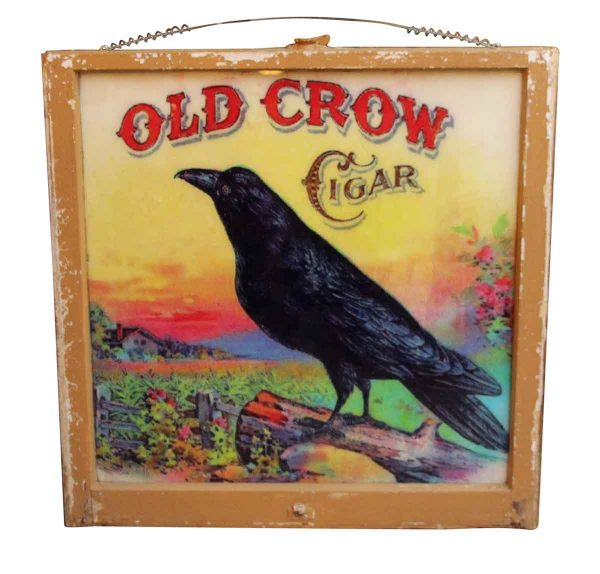 Old Crow Window Sign - Vintage Signs