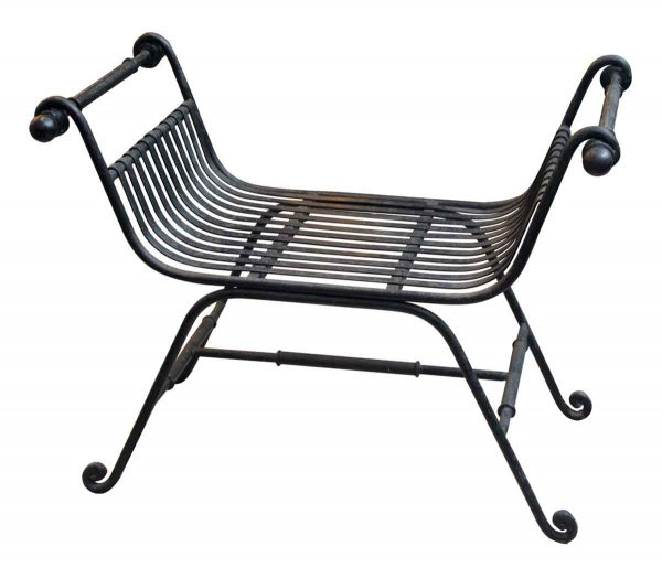 Pair of Wrought Iron Throne Benches - Seating
