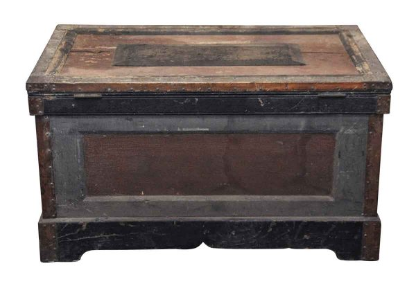 1800s Tool Trunk with Original Paint - Trunks
