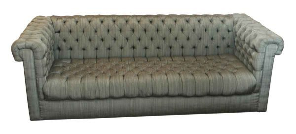 Green Tufted Couch - Living Room