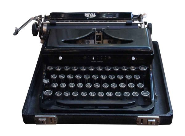 Antique Royal Typewriter with Case - Typewriters