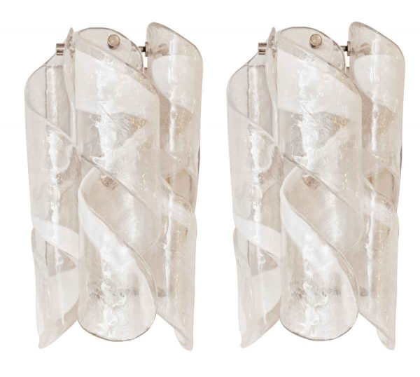 Pair of Murano Modern Sconces - Sconces & Wall Lighting
