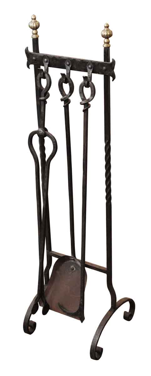 Wrought Iron Fireplace Tools Set - Tool Sets