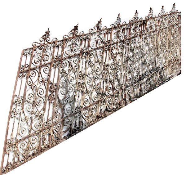 Rare Ornate 19th Century Wrought Iron Stair Railing - Fencing