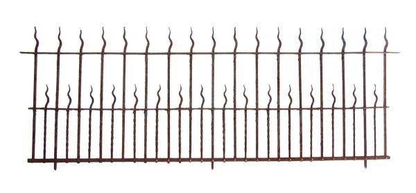 100 ft Flame Finial Wrought Iron Fence - Fencing