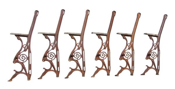 Cast Iron Theater Chair Sides with Figural Details - Commercial Furniture
