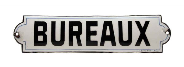 "French ""Bureaux"" Offices Sign - Vintage Signs"