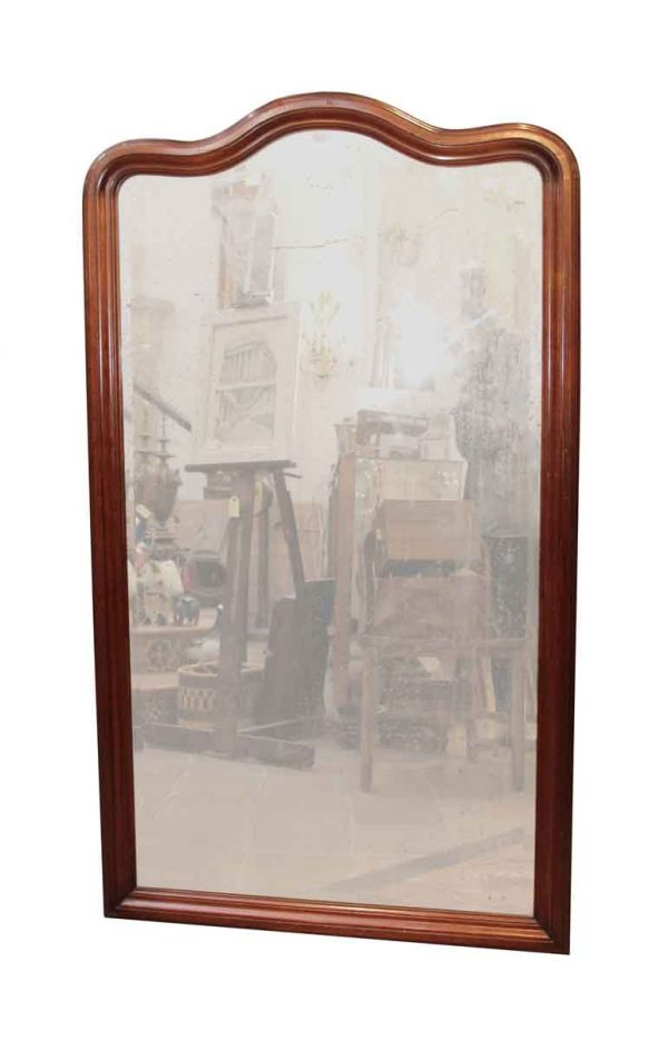 Free Standing Wood Beveled Mirror - Antique Mirrors