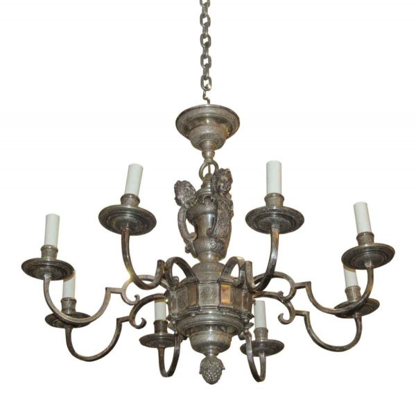 1900s Silver Plated Caldwell Chandelier - Chandeliers
