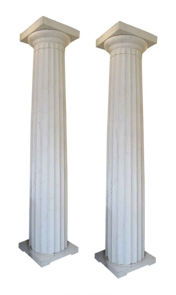 Turn of the century Lands End mansion fluted columns - Columns & Pilasters